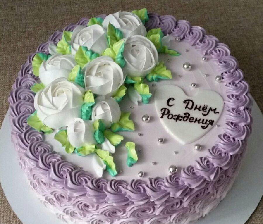 Кремовый торт Сиреневое настроение
